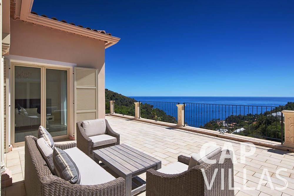 rent Villa Serena eze serena terrace sea view