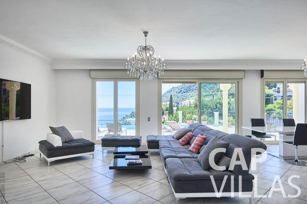Villa Serena for let eze serena living area