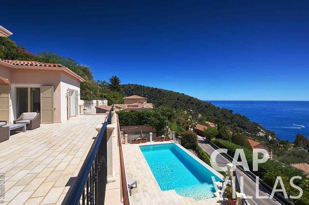 Villa Serena for let eze serena terrace sea view