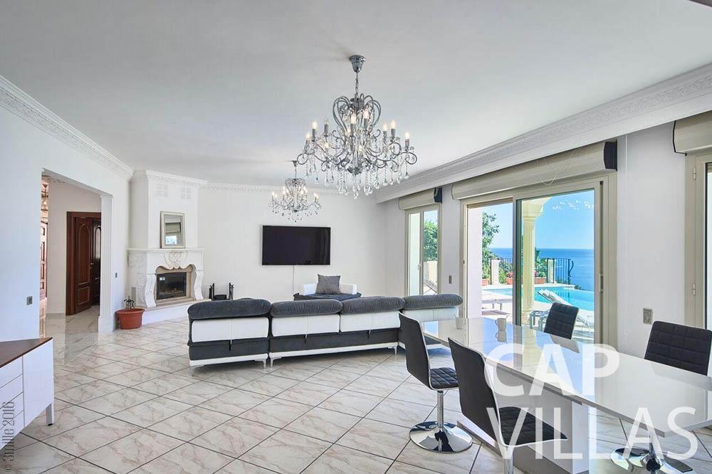 Villa Serena for rent eze serena living area
