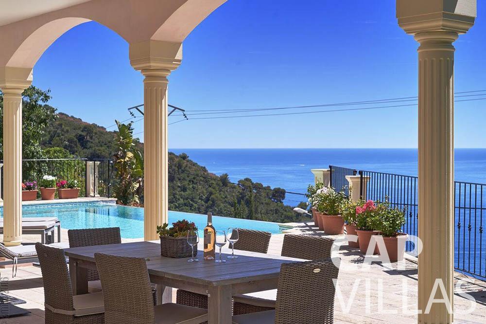 Villa Serena for rent eze serena terrace sea view