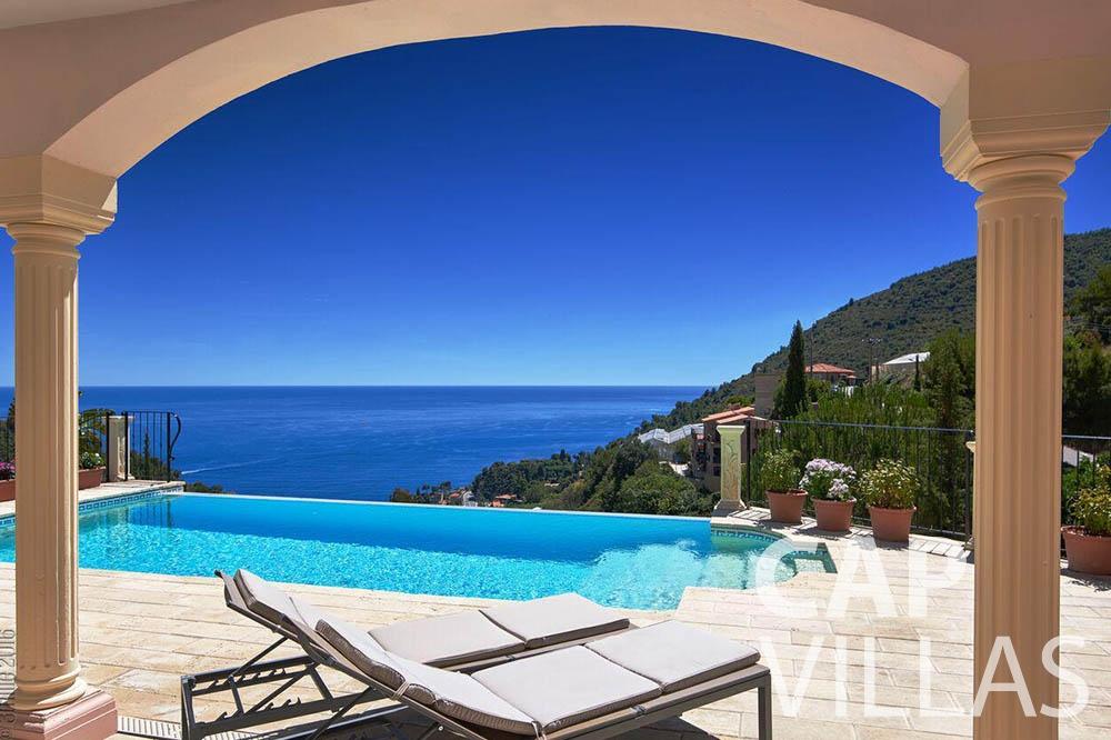 Villa Serena for rent eze serena terrace swimming pool sea view