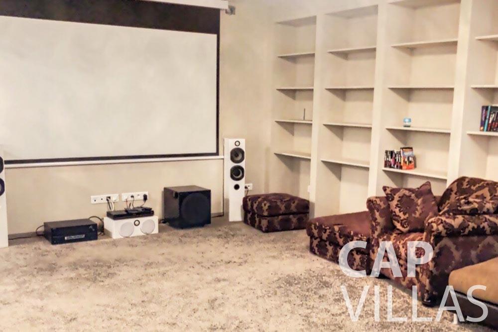 Villa Valéry for rent cap de nice valery cinema room