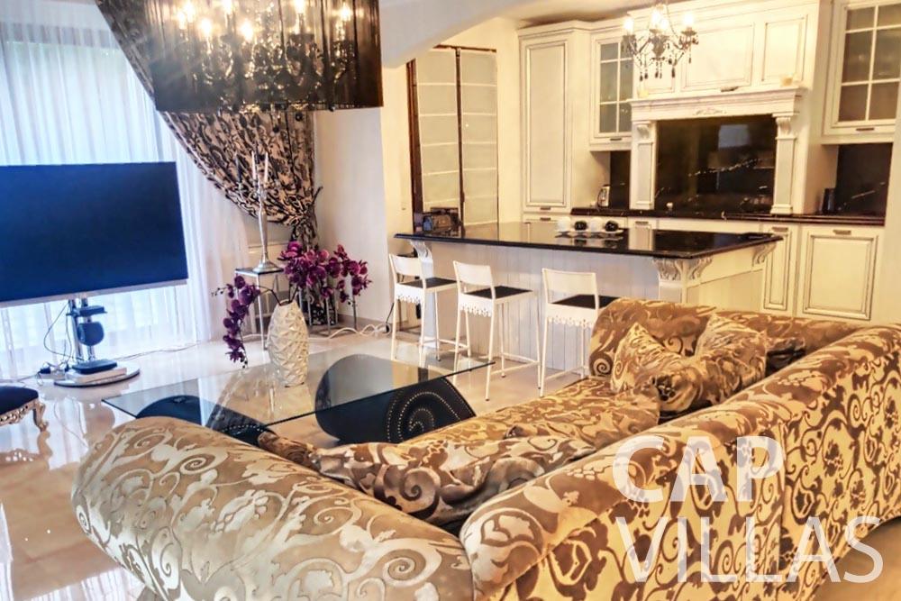 Villa Valéry for rent cap de nice valery living room