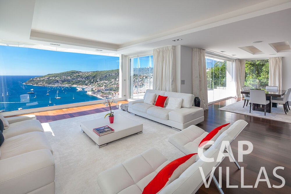 rent Villa Marguerita villefranche living room