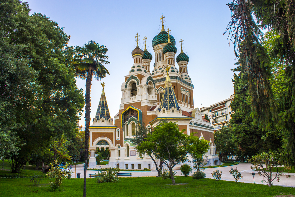 St Nicholas Orthodox Cathedral in Nice, the largest Russian Orthodox cathedral in Western Europe.