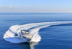 Luxury Yacht Charter cruising on the sea and creating waves - concierge services